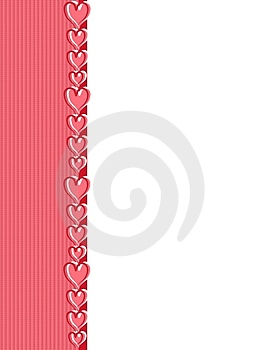 Pink Valentine's Day Hearts Border Stock Photography