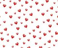 Small Decorative Red Hearts Pattern Background