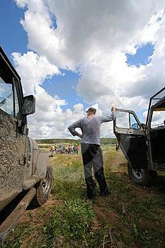 Fahrer Und Zwei Autos Stockfotografie - Bild: 3911012