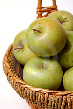 Basket With Apples Royalty Free Stock Image - Image: 3926486