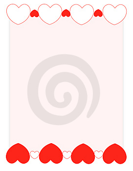 Red Hearts Valentine's Day Background/ Frame Royalty Free Stock Photos - Image: 3933708