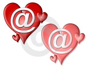 Valentine Hearts AT Signs Clip Art Royalty Free Stock Photo - Image: 3934605