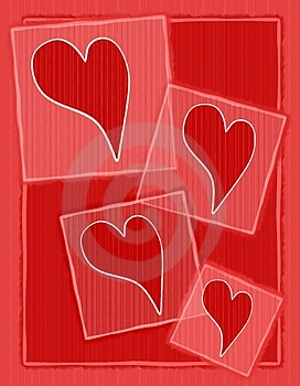 Striped Paper Valentine Hearts Background Royalty Free Stock Photography - Image: 3934677