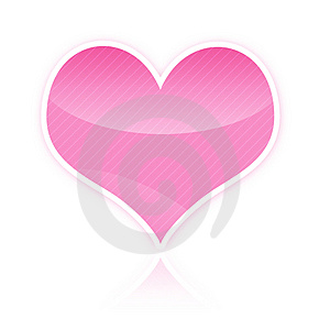 Pink Heart Illustration Free