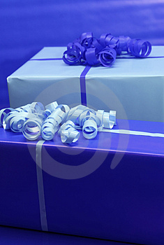 Blue Presents Royalty Free Stock Images - Image: 3943409
