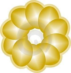 Den Guld- Avgången Bygga Bo ägg Royaltyfria Foton - Bild: 3943428