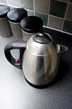 Kettle With Containers Stock Photo - Image: 3943620