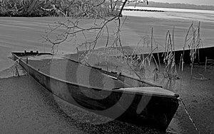 Frozen Boat Stock Image - Image: 3951151