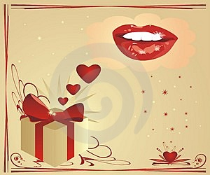 Hearts And Smile. Valentines Day Royalty Free Stock Photos - Image: 3952668