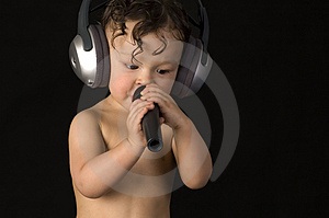Sing Baby. Royalty Free Stock Photo - Image: 3952845