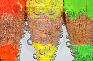 Colored Crayons With Bubbles Stock Image - Image: 3959241