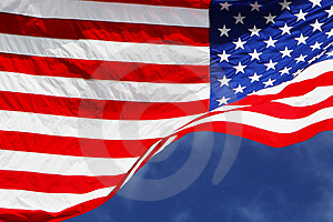 Flag001 Royalty Free Stock Photo