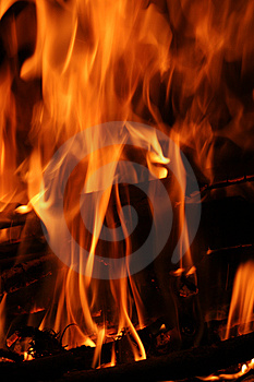Fire Flames Vertical Stock Photo - Image: 3980240