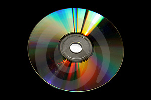 Old DVD Disk (with Clipping Paths) Royalty Free Stock Images - Image: 3983179