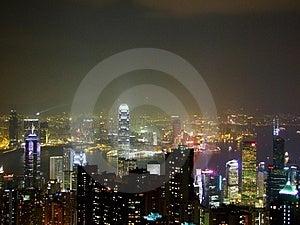 Hong Kong nocą
