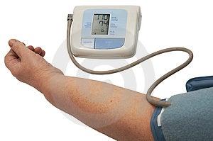 Digital blood pressure monitor Free Stock Image