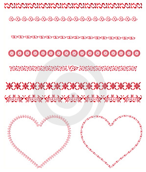 Valentine Backgrounds-elementen Royalty-vrije Stock Fotografie - Beeld: 3991757