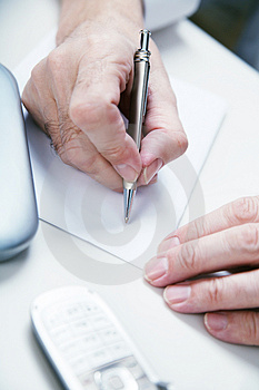 Hand  with pan Stock Image