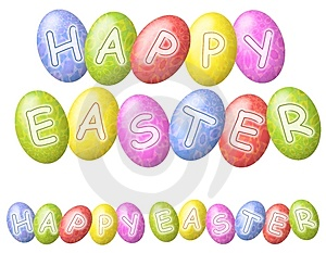 Happy Easter Eggs Logos Or Banners Royalty Free Stock Photography - Image: 3996907