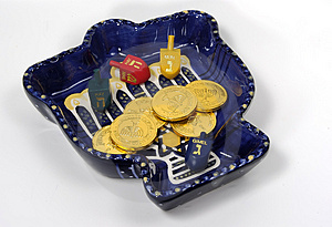 Chanukah Bowl 2 Free Stock Images