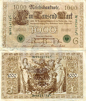 Old German Money 1 Stock Photography - Image: 41302