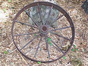Rusty Wagon Wheel Free Stock Images