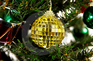 Yellow Ornament Stock Photo