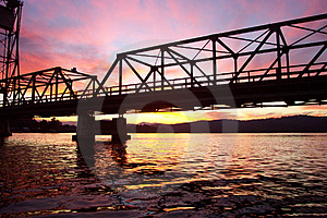 Sunset Bridge Free Stock Photos