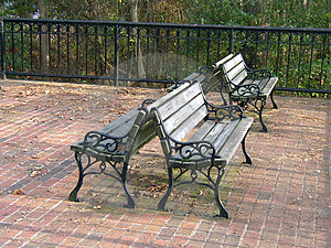Park Benches Free Stock Photography