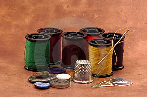 Sewing Items 2 Royalty Free Stock Images - Image: 44649