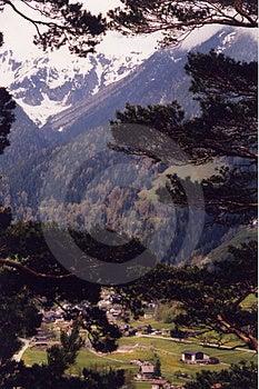 Alpes -高山村庄 免版税图库摄影
