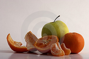Oranges And Apple Free Stock Photography
