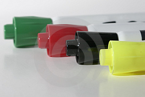 Four Colored Markers Stock Image - Image: 47671