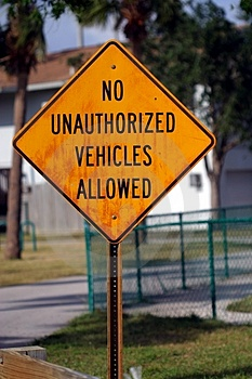 No Unauthorized Vehicles Stock Images