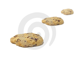 3 Cookies Stock Photography