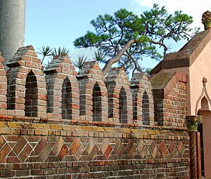 Brick Wall With Arches Free Stock Photos