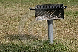 Grill in a Park Royalty Free Stock Image