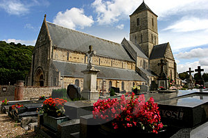 Church And Relative Cemetery Royalty Free Stock Photo - Image: 49985