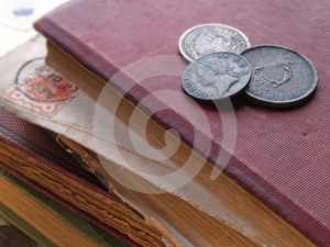 Books With Coins Royalty Free Stock Image - Image: 404796
