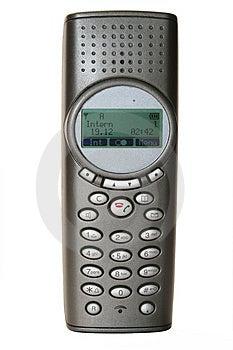 Modern Wireless Telephone / Isolated Royalty Free Stock Photo - Image: 405465