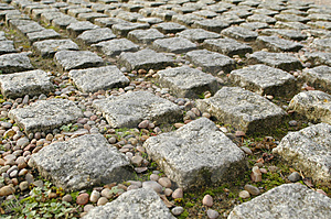 Block paving Stock Photo