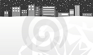 Winter City Royalty Free Stock Image - Image: 4004226