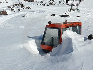 The Vehicle At Ski Resort Stock Photo - Image: 4005270