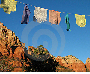 Prayer Flags Over Sedona Royalty Free Stock Images - Image: 4008239