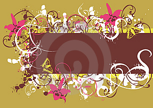 Floral Frame Stock Photos - Image: 4008653