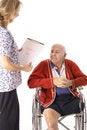 Nurse holding medical bill
