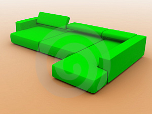 Sofa In Green Tones Stock Photos - Image: 4020213