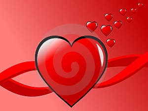 Valentines Hearts Background Stock Photography - Image: 4022942