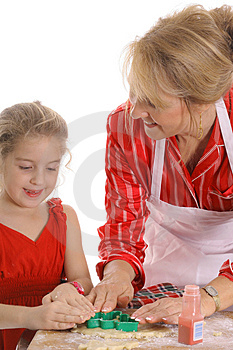 Decorating cookies together Free Stock Photo