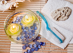 Spa candles Free Stock Images
